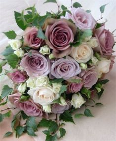 English Roses Old Rose Bouquet-sweet for a purple or lavender wedding. Rose Wedding Bouquet, Blue Bouquet, Floral Wedding, Wedding Flowers, Wedding Dresses, Bride Bouquets, Floral Bouquets, Romantic Flowers, Beautiful Flowers