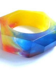 Rainbow Resin Bangle (via @CMYBacon)
