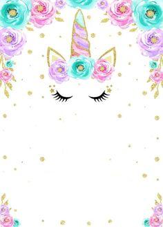 Unicorn Themed Birthday, Unicorn Birthday Invitations, Unicorn Art, Rainbow Unicorn, Unicorn Wallpaper Cute, Rainbow Invitations, Unicorn Pictures, Unicorn Baby Shower, Cute Wallpapers