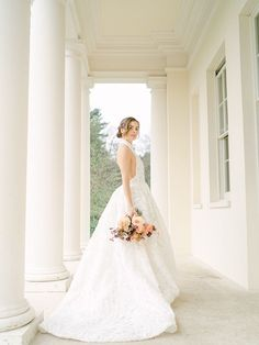 This bride was absolutely stunning in this halter top wedding ballgown | Image by Sara Cooper Elegant Ball Gowns, Romantic Lace, Elopement Inspiration, Bridesmaid Dresses, Wedding Dresses, Bridal Fashion, Absolutely Stunning, Bridal Style, Wedding Blog
