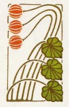 Art Nouveau Colour Stencil/@Tracy Stewart Stewart Pillarinos.#Art Nouveau Design#