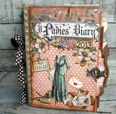 calendar / smash book out of a notebook 15x22cm