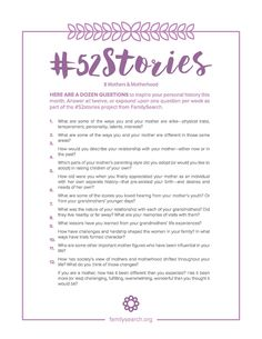 Overwhelmed by the thought of writing your personal history? The project launched this year by the Family History Department c. Scrapbook Journal, My Journal, Journal Ideas, Bullet Journal, Cool Writing, Writing Tips, Journal Writing Prompts, Family Genealogy, Genealogy Sites