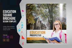 Education Square Prospectus by Miyaji75 on @creativemarket