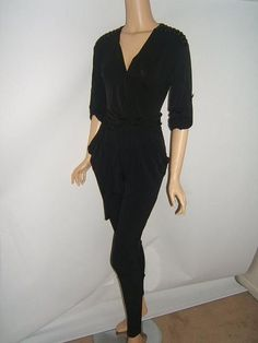 NEW Michael Kors XXS 0 2 Black SEXY SKINNY Jumpsuit Shoulder STUDS  NWT #MichaelKors #Jumpsuit http://stores.ebay.com/Designer-Shoes-and-More?_dmd=2&_nkw=michael+kors