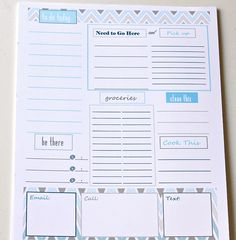 25 Free Printables to Organize Your Life smart to-do list ! so cute !