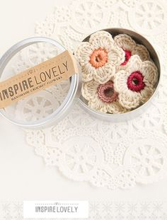 Crochet Flowers! Cute!