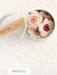 Crochet Flowers! Cute!