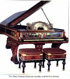 duet benches Alma-Taderma Steinway - sold for one point two million - highest price ever paid for a piano to date. Piano Bench, Piano Room, Sound Of Music, My Music, Music Notes, Musica Celestial, Mundo Musical, Thelonious Monk, Old Pianos