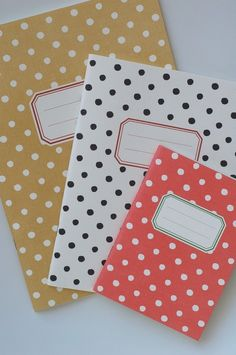 polka dotted notebooks!