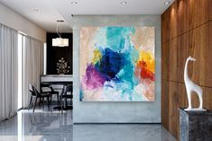 Items similar to Large Modern Wall Art Painting,Large Abstract Painting on Canvas,large art on canvas,texture art painting,canvas wall art on Etsy Large Canvas Art, Abstract Canvas Art, Canvas Wall Art, Painting Canvas, Textured Painting, Large Painting, Abstract Paintings, Bedroom Paintings, Acrylic Canvas