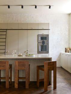 Swedish Design, Scandinavian Design, Kitchen Interior, Kitchen Design, Oak Wardrobe, Steel Dining Table, Neutral Kitchen, Vogue Living, Painting Cabinets