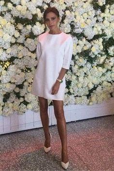Victoria Beckham wearing Victoria Beckham Cutout Crepe Mini Dress