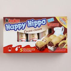 Kinder Happy Hippo Hazelnut Biscuits- I put these in Easter baskets this year. They were a hit...at least with THIS happy hippo!