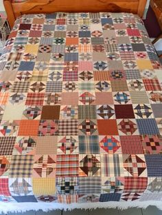 Floating on a Quilted Cloud . Scrappy Churn Dash blocks made from recycled shirts . Flannel Quilts, Plaid Quilt, Scrappy Quilts, Shirt Quilts, Mens Quilts, Plaid Fabric, Patch Quilt, Quilt Blocks, Quilting Projects