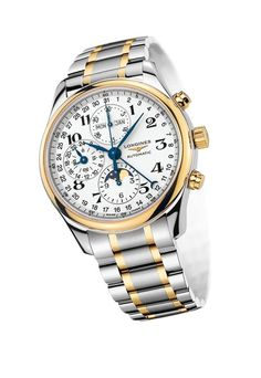 The Longines Master Collection features stainless steel, 18K yellow gold and a classic design sure to fit any ensemble!