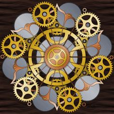 Steampunk-ish Mandala! There's also a uncolored version, if you want to color it yourself.