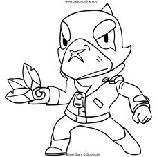 crow | brawl stars coloring page - color for fun coloringpages brawlstarsglobal brawlstarspro