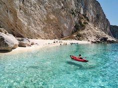 Aspri ammos beach at Othoni island (north of Kerkyra)