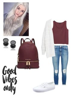 """Good vibes only✌️"" by alyssa-christine-daigle on Polyvore featuring J Brand, Vans, Monki, Misbehave, Michael Kors, Violeta by Mango, women's clothing, women, female and woman"