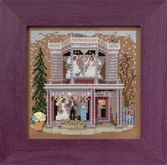Mill Hill Spring Series Bridal Shoppe beaded counted cross stitch kit