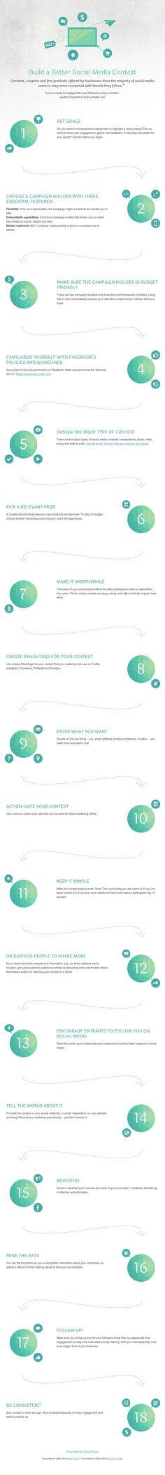How To Build a Successful Social Media Contest - #infographic #SocialMedia #marketing