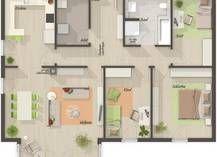 Der Bungalow 110 - Grundriss Erdgeschoss - Ihr Town & Country Massivhaus ...