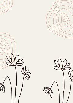 Flower Stitching Clean Background