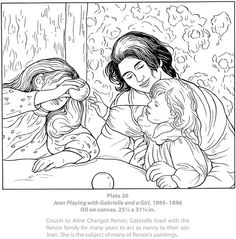 Welcome to Dover Publications / Dover Masterworks : Color Your Own Renoir Paintings / Marty Noble Renoir Paintings, Great Paintings, Original Paintings, Coloring Book Pages, Coloring Sheets, Dover Publications, Famous Art, Mandala Coloring, Art Studies