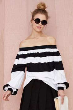 MLM Afar Off-The-Shoulder Top | Shop Style Detox at Nasty Gal