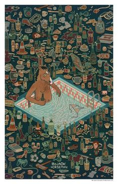 "Shian Ng ""Bojack in Captivity"" Print"
