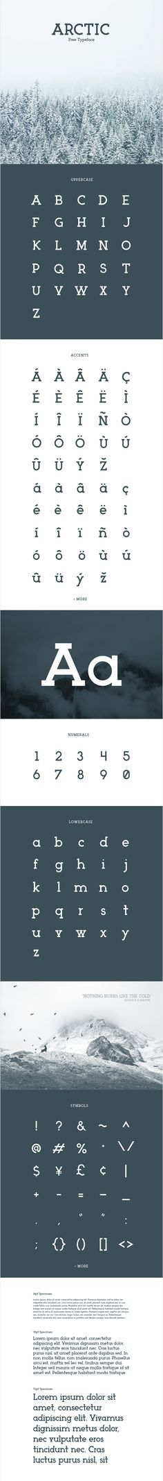 Arctic is a modern slab serif typeface by Matt Ellis.