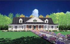 Elevation of Traditional   House Plan 56319