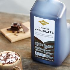 Create instant coffee favorites with this rich and satisfying semi-sweet chocolate sauce.
