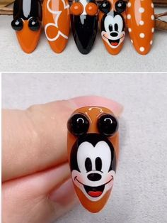 Cartoon Nail Designs, Disney Nail Designs, Nail Art Designs Videos, Nail Design Video, Nail Art Videos, Animal Nail Designs, Disney Acrylic Nails, Cute Acrylic Nails, Beautiful Nail Designs