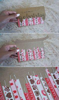 Diese Geburtstagskarte habe ich letztens für eine Freundin gebastelt. [...] #birthdaycard #birthday #geburstag #geburtstagskarte #inspiration #idee #tutorial #idea #candle #kerzen #rosa #handlettering #basteln