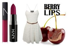 """Berry my lips"" by just-a-girl-100 ❤ liked on Polyvore featuring beauty, LE3NO, Charles by Charles David, NARS Cosmetics, berrylips and berrypretty"