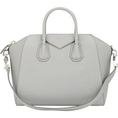 Givenchy Women's Antigona Medium Duffel ($2,435) ❤ liked on Polyvore featuring bags, luggage, givenchy, handbags and light grey