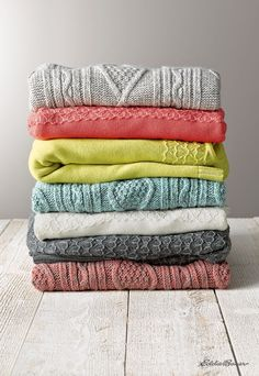 It's sweater weather. Stack 'em up!