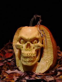 Amazing Pumpkin Art by Ray Villafane