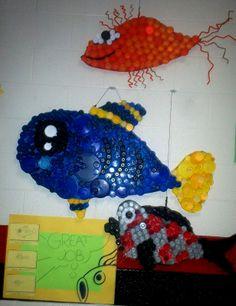 Art With Mr. E: Bottle Cap Fish