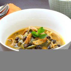 Organic Chicken, Roasted Poblano, Pumpkin and Black Bean Soup - Shape Magazine