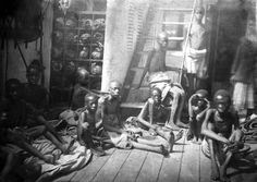 East African slaves aboard the Daphne, a British Royal Navy vessel