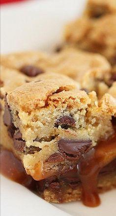 Salted Caramel Chocolate Chunk Cookie Bars