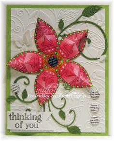 Inspiration Blooms: UnMasking Spring with Prickley Pear Rubber Stamps!   Couture Creations Embossing Folder