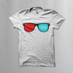 Vintage icons: 3D glasses t-shirt