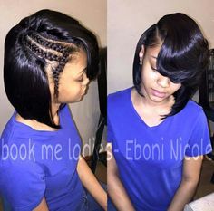 Bob Sew In Hairstyles images in Collection) Page 2 sew in bob hairstyles - Bob Hairstyles Sew In Bob Hairstyles, Pretty Hairstyles, Black Hairstyles, Braided Hairstyles, Bob Sew In, Sew In Braids, Curly Hair Styles, Natural Hair Styles, Hair Laid