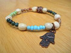 Spiritual Minimalist Evil Eye Protection Bracelet by tocijewelry