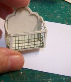 Miniatures and dollhouses - how to make this bathroom or kitchen wall hanging