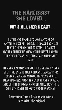 The Narcissist she loved.. with all her heart... Recovery from a relationship with a Narcissist